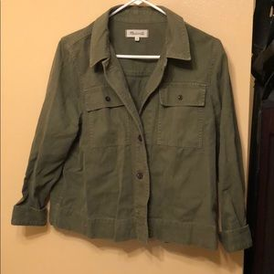 Madewell army green jacket